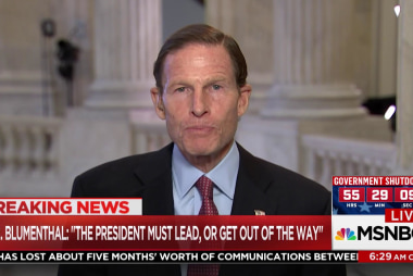 The president is AWOL on deal: Sen. Blumenthal