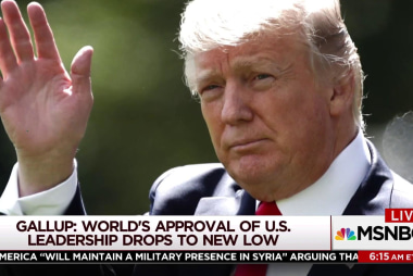 International approval of US leadership drops: poll