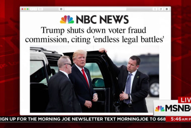Trump shuts down voter fraud commission