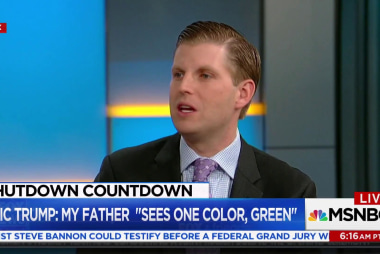 Eric Trump: My father sees one color: green