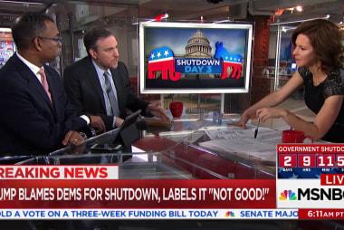 """Trump blames Democrats for """"not good"""" shutdown"""