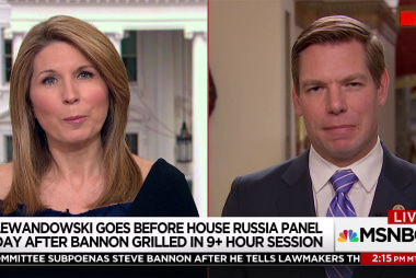 """Rep. Swalwell on Bannon mtg.: """"aggressive effort by the White House to obstruct"""""""