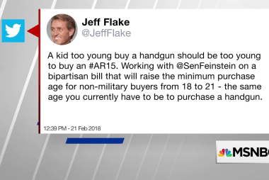 Sen. Jeff Flake wants to raise age minimum on AR-15