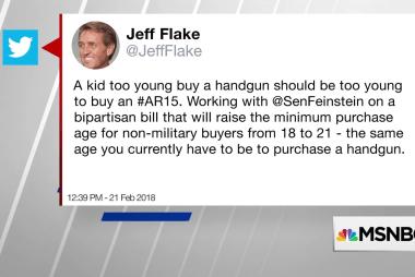 Sen. Jeff Flake wants to raise age minimum on AR-15