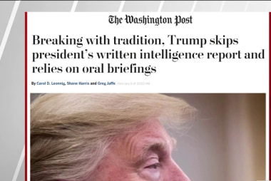 WaPo: Trump doesn't read daily intel briefings