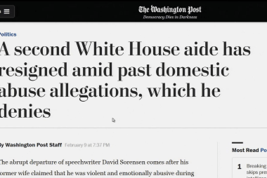 WaPo: White House speechwriter resigns amid domestic abuse allegations