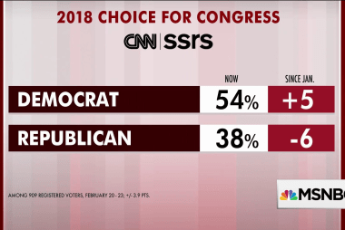 Democrats hold 16-point lead over GOP: poll