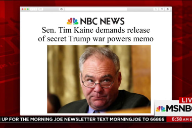 Sen. Kaine demands release of secret Trump war powers memo