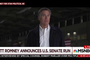 Mitt Romney makes an announcement
