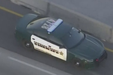 Sheriff's car seen transporting Florida school shooting suspect