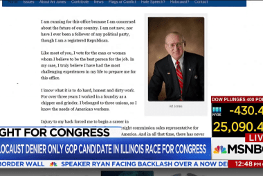 Holocaust denier runs uncontested in Illinois race for Congress