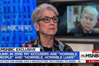 "Trump accuser Jessica Leeds: Defending spousal abuse is Trump's ""track record"""