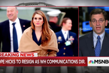 Why Hope Hicks' resignation may be the most significant departure for Trump