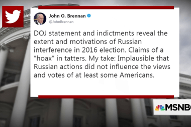 """Fmr CIA Dir. Brennan: Mueller's indictments won't be the last 'by any stretch"""""""