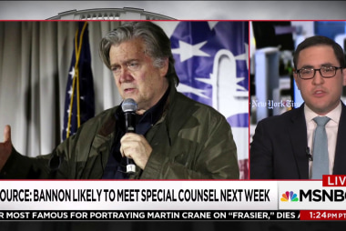 Steve Bannon likely to meet with Robert Mueller next week