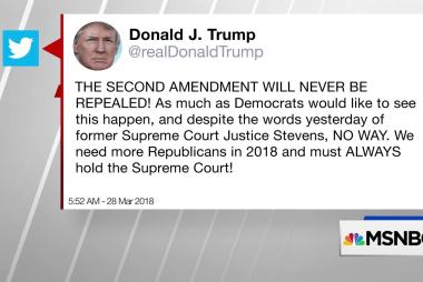 Trump says 2nd amendment will never be repealed