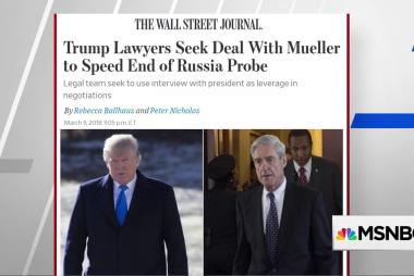 WSJ: Trump's lawyers seek deal to end Mueller probe