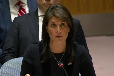 Nikki Haley tells U.N. Russia responsible for chemical attack