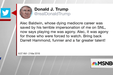 Why did Trump wake up and tweet about Alec Baldwin?