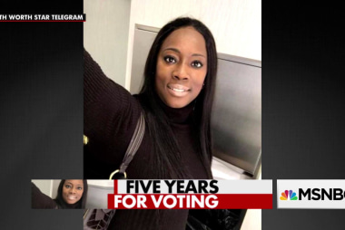 Texas woman gets 5 years in prison for voting illegally