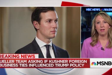 Mueller asking if Kushner's business interests influenced Trump foreign policy
