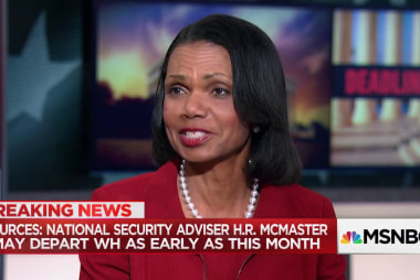 Secy. Condoleezza Rice on McMaster: He's doing a really fine job… I hope he stays