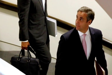 Trump, allies worried Cohen may strike deal with prosecutors