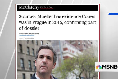 McClatchy: Mueller has evidence Cohen was in Prague in 2016, confirming parts of dossier