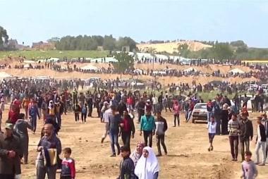 Israeli troops shoot 750 Palestinians at Gaza border