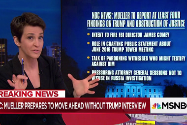 Mueller report on Trump obstruction takes shape ahead of schedule