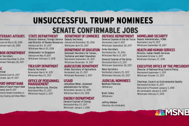 Trump extends abysmal track record of nominee failures