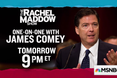 James Comey to guest on The Rachel Maddow Show, Thursday 4/19