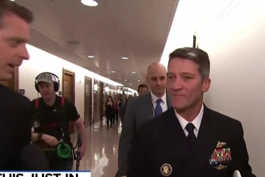 Ronny Jackson tells MSNBC he is 'disappointed' confirmation hearings delayed