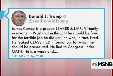Trump tweets: Comey a 'LEAKER' and 'LIAR'