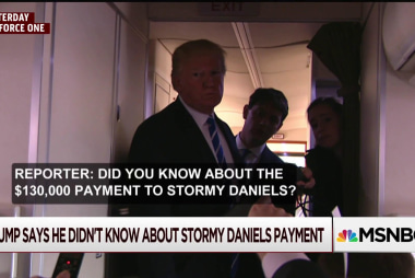 Trump opens a door by reacting to Daniels question