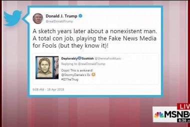 Trump tweets sketch a 'total con job'