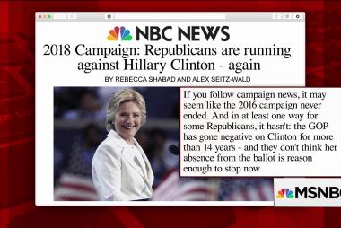 Republicans continue running against Clinton