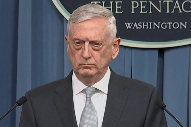 Mattis: 'this is a one-time shot'