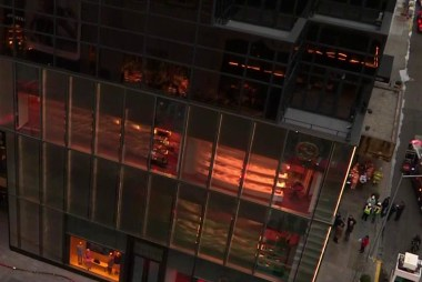 Fire on the 50th floor of Trump Tower in NYC