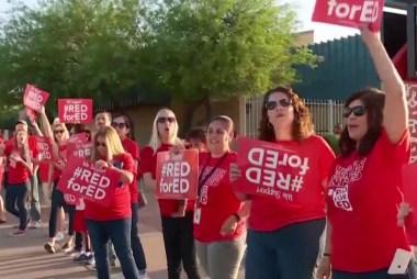Arizona teachers demand more money in statewide protest