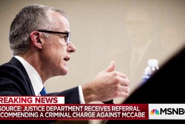 "Fmr. FBI Asst. Dir.: ""I'm troubled"" by criminal charge referral against McCabe"