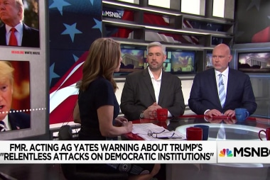 Growing alarm from prominent former senior justice & nat-sec officials over Trump's attacks