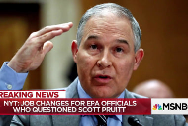 NYT report: Job Changes for EPA officials who questioned Scott Pruitt