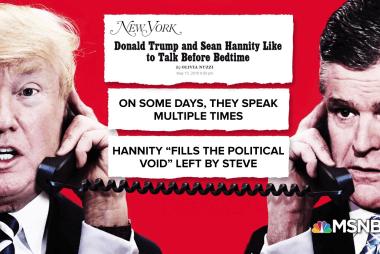 Reporter: Trump-Hannity bromance hitting T-Pain level