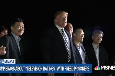 Trump cheapens North Korean hostage return with ratings obsession