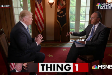 President Trump's interview crisis