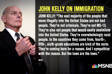 When it comes to immigration, Kelly is united with Trump