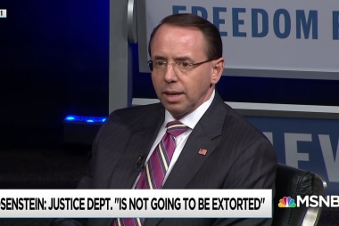 Is Rosenstein allowing Trump to compromise the DoJ with requests?