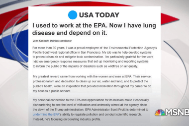 Fmr. EPA Employee stresses importance of clean air after lung diagnosis