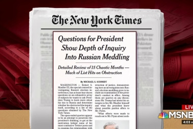 More than half Mueller questions are on obstruction: NYT
